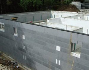 Basement using ICF under construction